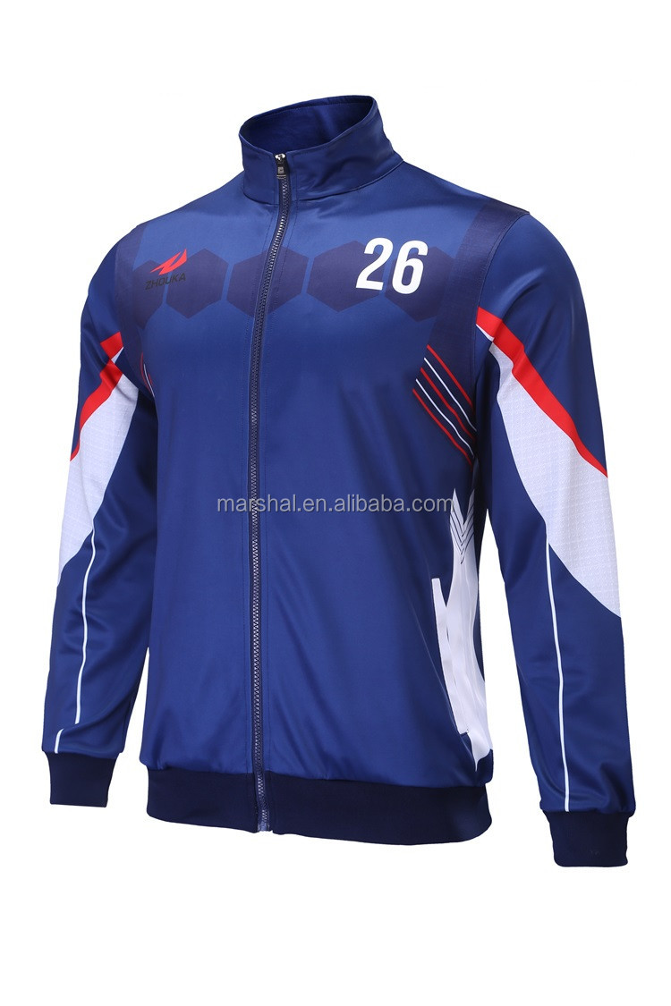 New Design School Sports Jacket Soccer Tracksuit Custom Sports ...