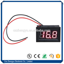 "China v27d 0.56"" led dc 0-100.0v digital red display voltmeter with three wires"