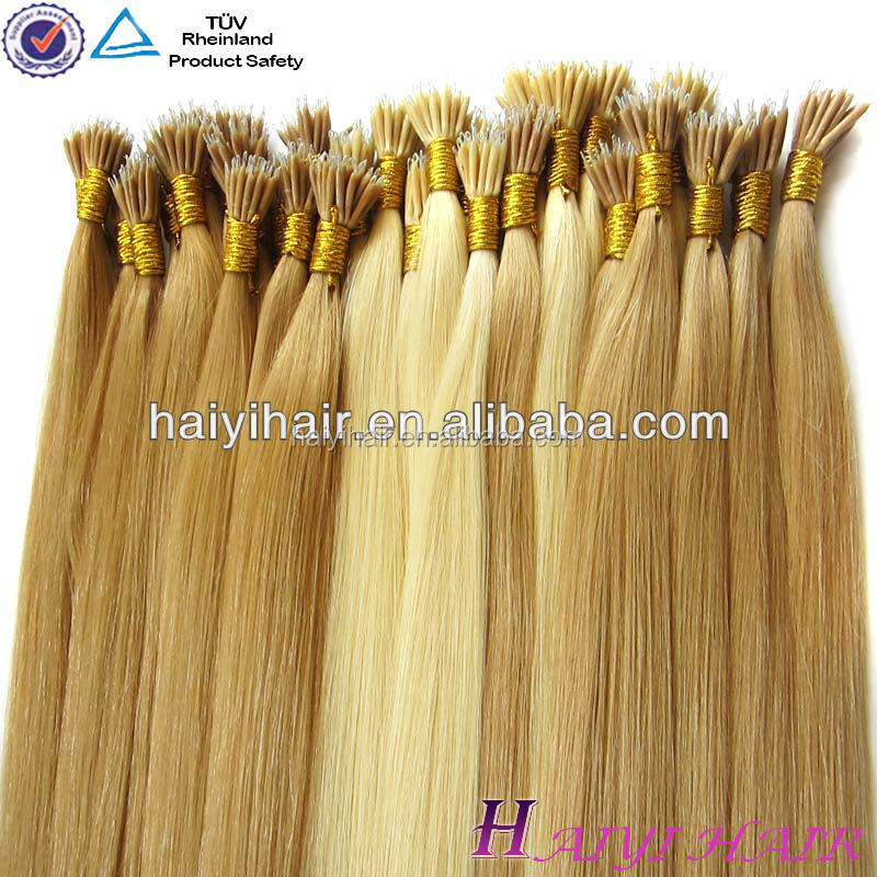 Alibaba Wholesale Remy Hight Grade Hair Nano Tip Hair Extensions 1G/s 100% European Human Remy Hair