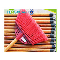 Household cleaning tool colorful PVC handed broom and dustpan with handle