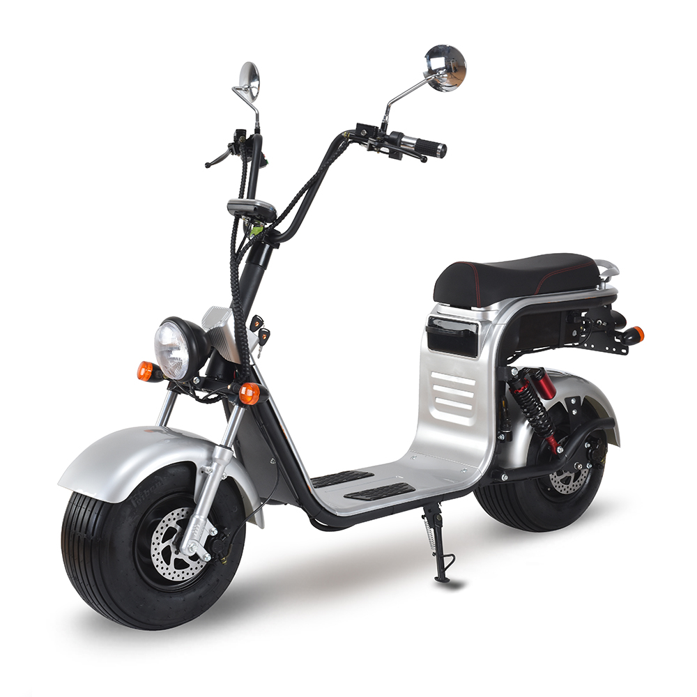 3pluscoco Powerful High Speed lithium battery Citycoco 1500w Electric scooter with EEC