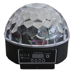 Remote control RGB small light LED mini mp3 disco crystal magic ball