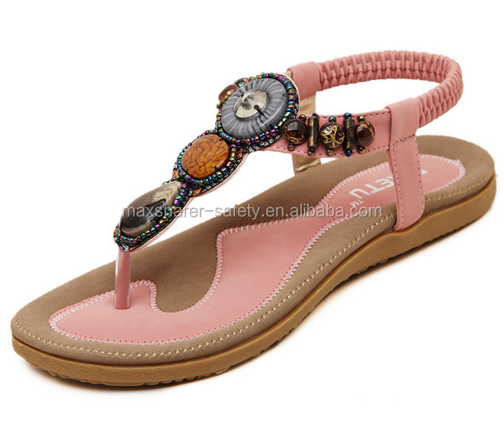 wholesales shoes 2018 new design diamond flat women <strong>sandals</strong>