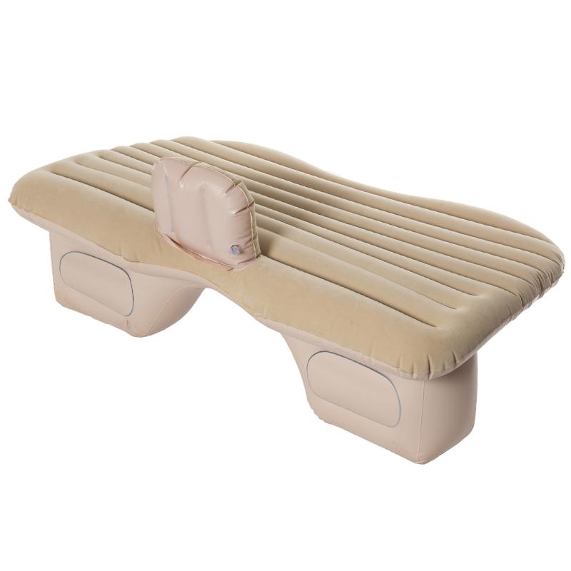 056b2186f Bege Cama Inflável para o Colchão de Ar Do Carro de Volta Assento Almofada  Cama com