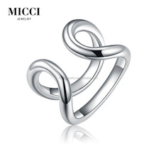 Ally express cheap wholesale women simple silver ring designs for women
