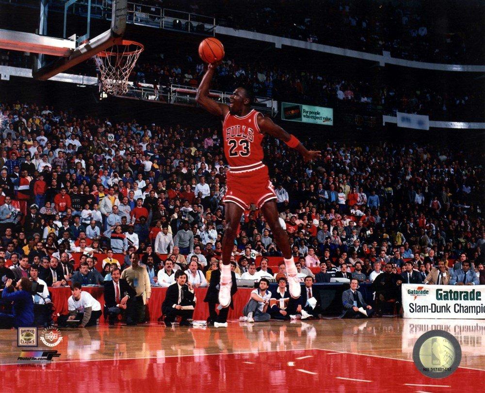9ca1918a1053fe Michael Jordan 1988 NBA Slam Dunk Contest Action Art Print
