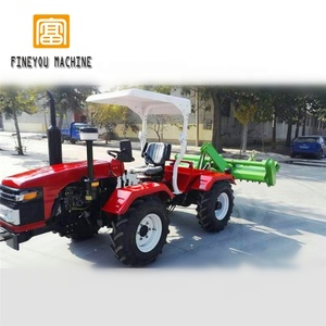 four-wheel drive four track articulated type copying tractor