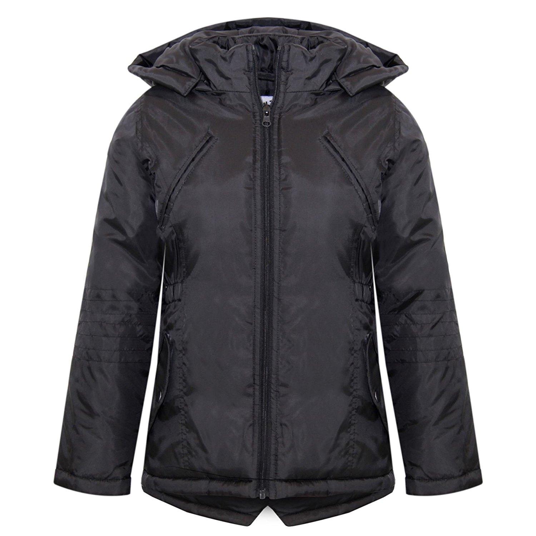 7def9f934 A2Z 4 Kids® Girls Jackets Kids Designer Foam Padded Hooded School Warm  Thick Coat 3