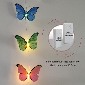 New Year Decorative Holiday Lighting LED Battery String Lights Butterfly Shaped Molding Lighting