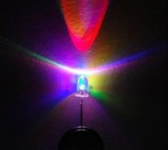 Bluecell 50 pcs RGB Full Multi color Flashing LED Electronics 5mm