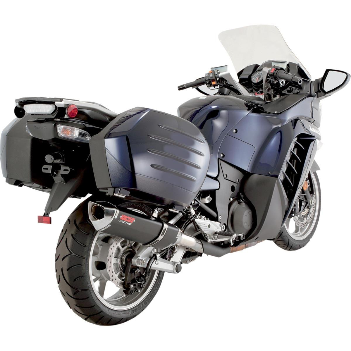 Get Quotations · Vance and Hines CS One Slip-On Exhaust for Kawasaki  2009-14 Concours 1400