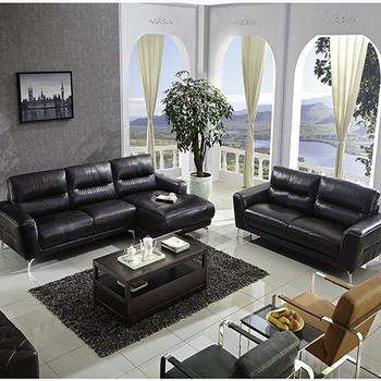 Latest Corner Modern Style Italy Leather 7 Seater Sofa Set Design