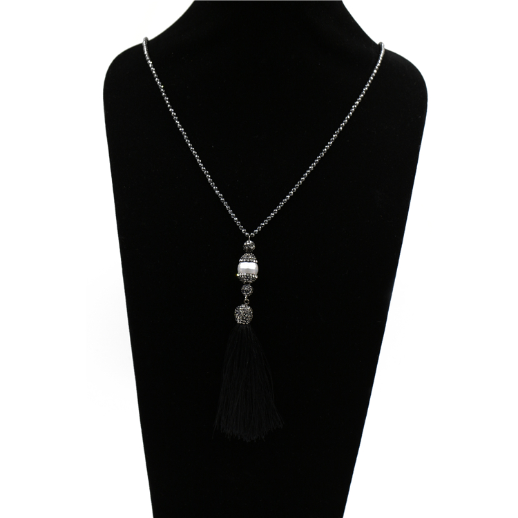 2018 aaa grade freshwater pearl pendant macrame necklace