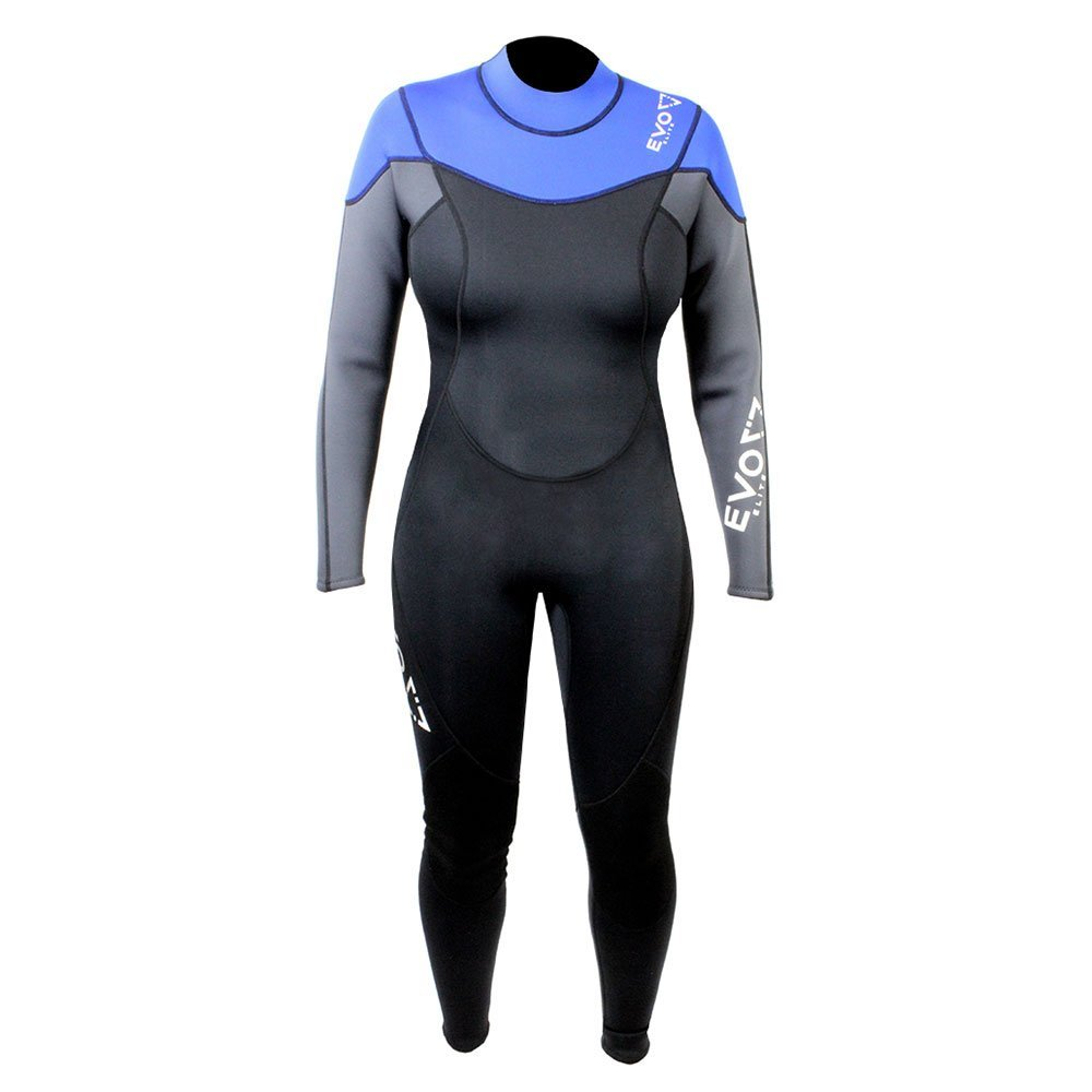 Get Quotations · EVO Elite 3mm Super-stretch Full Scuba Wetsuit (women s) 3 4  Blue 6416465b1