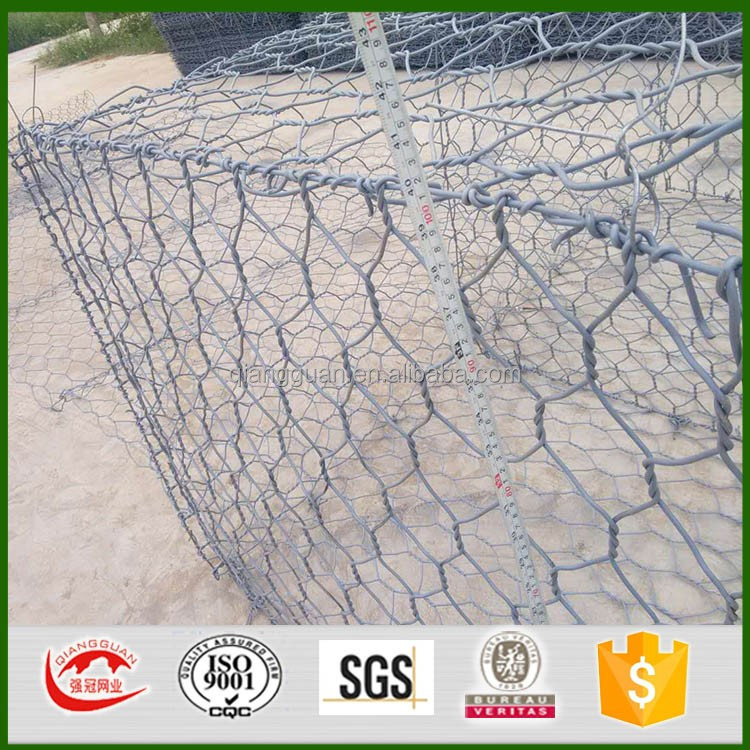 cheap prices galfan 3x1x1m hexagonal Gabion Box for retaining wall