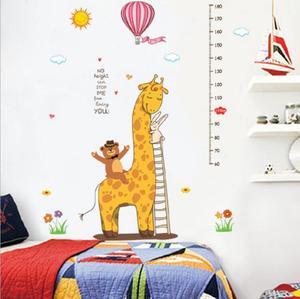 Giraffe cartoon children home decal wall sticker for kids room DIY children's decorative die cut wall sticker