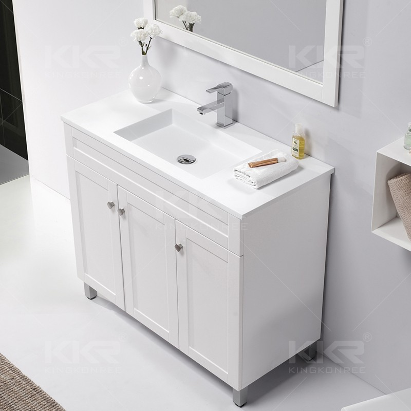 Solid surface bathroom wash basin with cabin