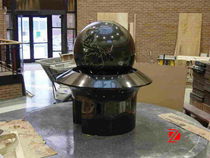 Indoor water ball fountain