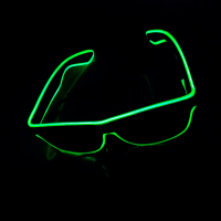 Waterproof Diffraction Luminous Funny Crazy Party Glasses With High Brightness