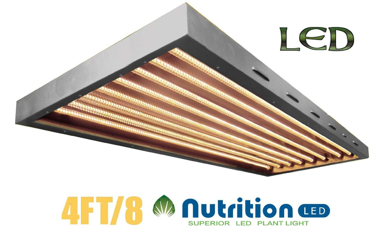 Cheap Led 4 Foot Tubes Find Deals On Line At 8 Fluorescent Light Fixture Wiring Get Quotations Aibc Supert 4ft 8tb T5 160w Grow Panel Optimized Full Spectrum
