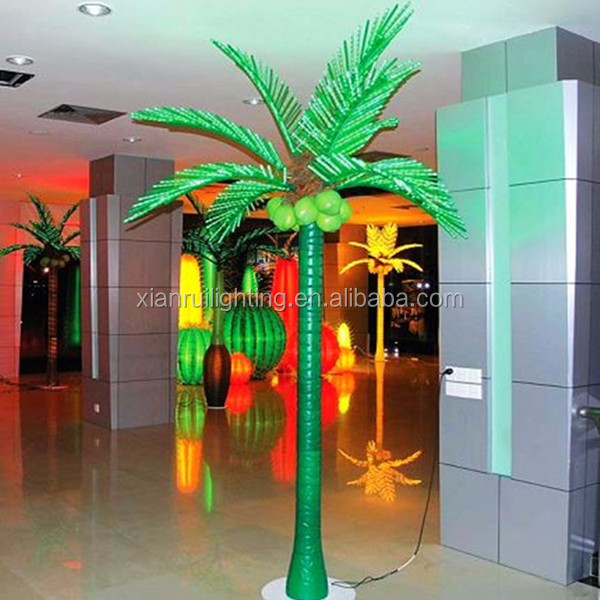 Cheap Xmas LED decorative light palm trees China made in