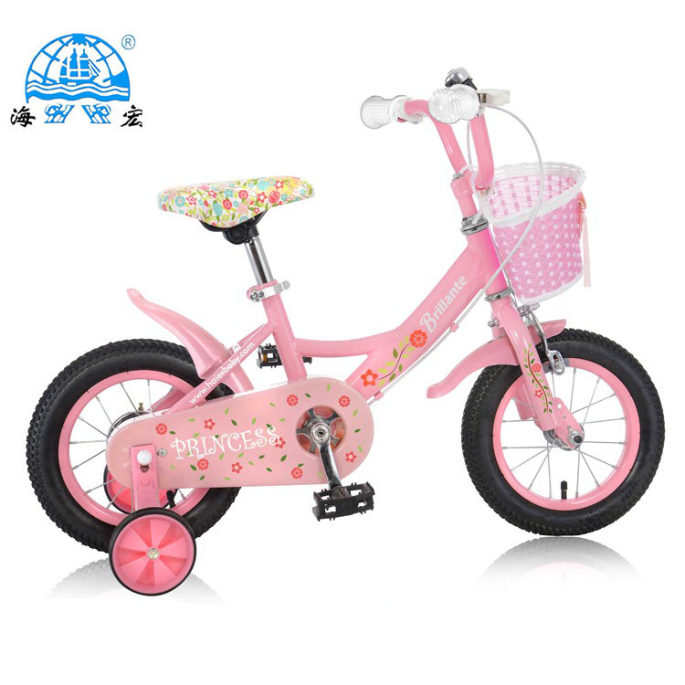 Bike Bicycle Front Basket Shopping Container for Children Kids Girls Pink