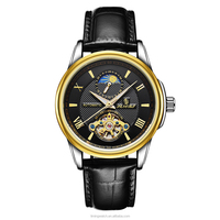 Small Wholesale Cheap Chinese Wholesale Automatic Mechanical Watch With Genuine Leather Strap For Men