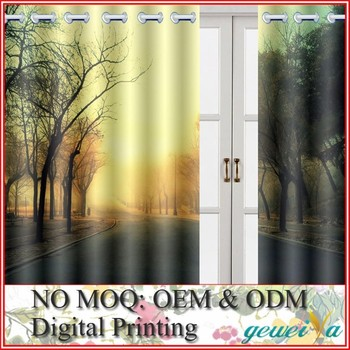 3D Digital Printed Shower Curtain With Matching Window