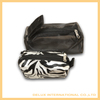 Hot sale black zipper design mesh makeup bags toiletry bags