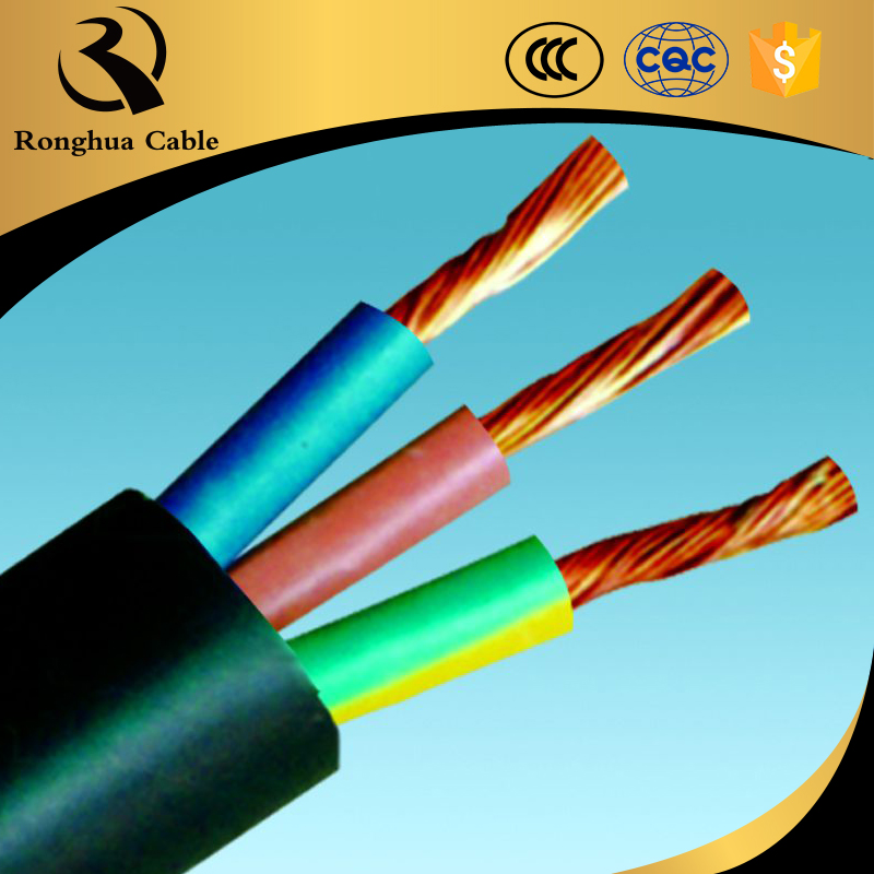 Pvc Coated 3 Core Copper Stranded Wire Flat Flexible Cable Wholesale ...