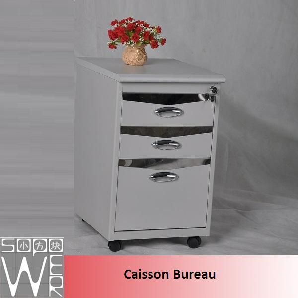 caisson bureau metal alinea blanc laqu discount. Black Bedroom Furniture Sets. Home Design Ideas