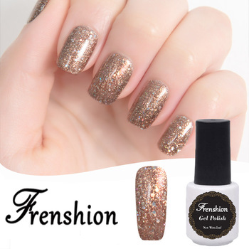 Frenshion Whole Nail Polishes Gel Color Uv Nails Salon Permanent Polish Bling