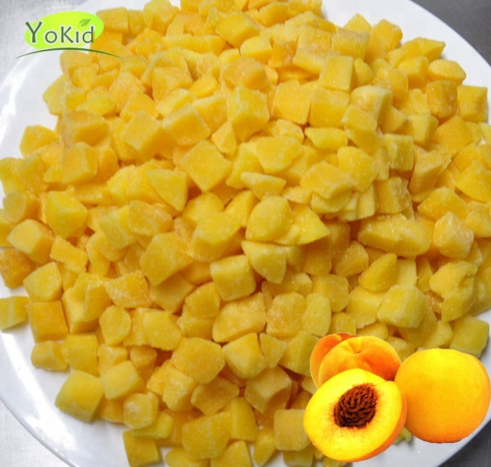 Chinese iqf diced and half cut yellow peach