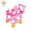 chinese tea set kids plastic kitchen tea cart diy toys