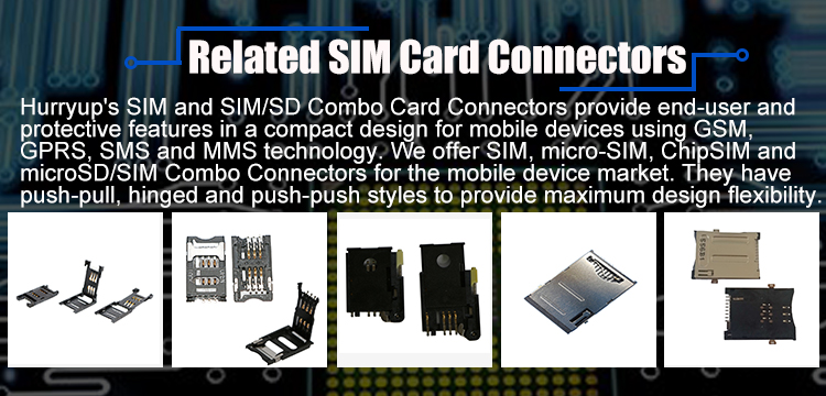 with CD Pin Stable Performance Push Type Nano SIM Card Holder connector