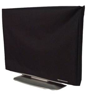 Television Dust Cover / Screen Protector - 40 to 42 inch LCD TV Cover [Antistatic, Water-Resistant, Black, High Quality Premium Fabric] by DigitalDeckCovers