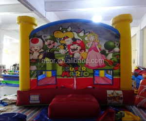 Aeor cheap inflatable supermario bouncer,inflatable jumping bouncer,small inflatable bouncer