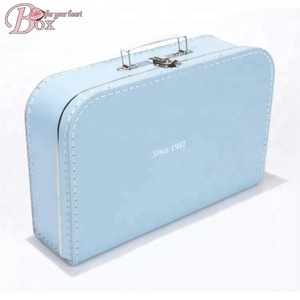 Travelling Decorative Novelty Suitcase toy paper box Lock Gift Chidren mini suitcase box