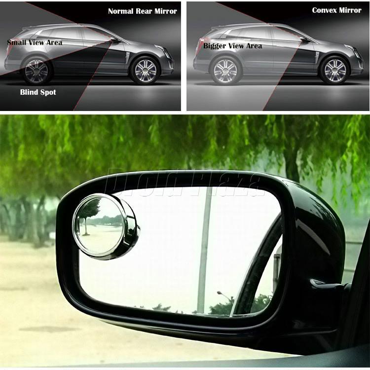 1 пара водитель двухсторонняя широкий угол выпуклое зеркало автомобилей автомобиля слепое пятно круглый объектива авто заднего вида розничной упаковке