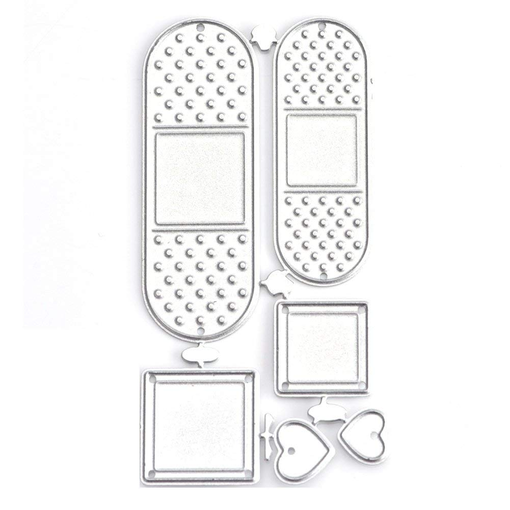 gainvictorlf Cutting Die Lovely Band-aid DIY Embossing Stencil Greeting Gift Card Scrapbook s - Silver