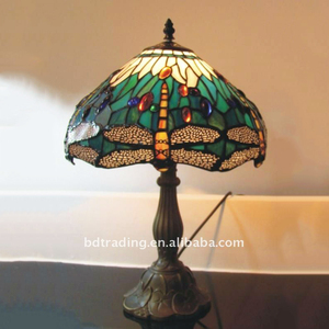 Cafe Coffee shop restaurant decorative stained glass Tiffany style Table Lamp