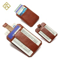 Full Grain Leather Anti Theft Wallet Front Pocket Slim Card Holder Minimalist RFID Smart Leather Wallet for Men
