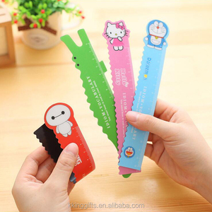 Custom Optical Ruler Folding Plastic Ruler Lovely Cartoon Animal Ruler For Kids Gift Korean Stationery