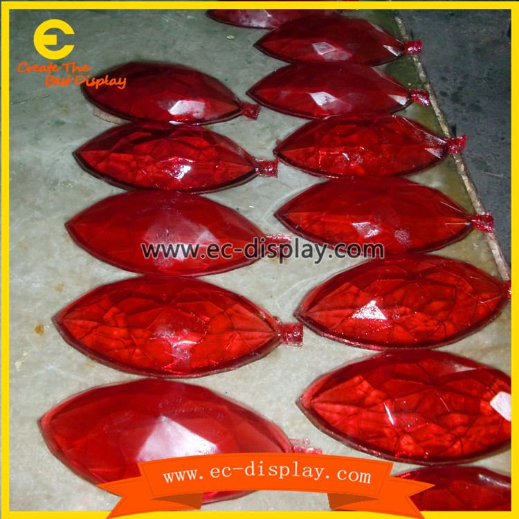 transparent resin artificial gem stone for jewellery window display props