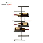 Wall mounted metal rack / iron floating shelf / wine display shelf for drinks