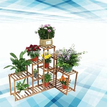 Custom 10 Tier Pine wood Flower Pots indoor outdoor shelf corner plant stand flower stand plant & Custom 10 Tier Pine Wood Flower Pots Indoor Outdoor Shelf Corner ...