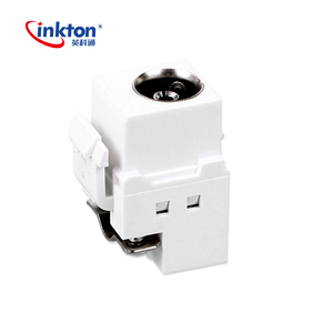 Inkton whiteTV wall plate/socket/module/faceplate CATV cable TV module