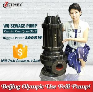 cast iron sump pump submersible electric 2 hp sump pump waste water slurry pump