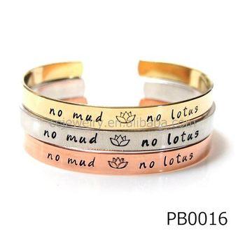 Bracelets Bangles Women Custom Engraved Leather Bracelet 316l Stainless Steel Womens Cuff Provide