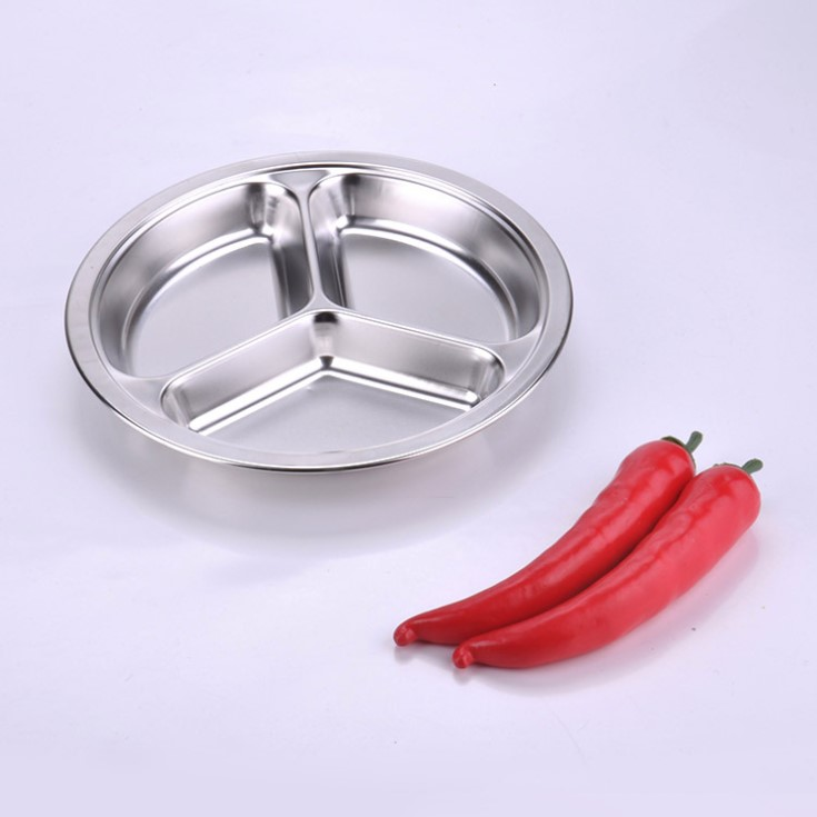 New hot selling products large round serving tray metal dish pan